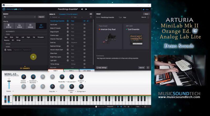 Arturia Analog Lab Lite – No talking Sound Demo